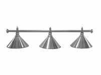 Billiard lamp Elegance Silver 3 bells