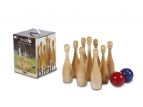 Spēle BOWLING PINS IN NATURAL WOOD BEECH