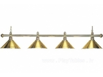 Billiard lamp Elegance Brass 4 bells