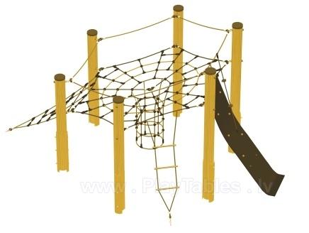 Как сделать паутину для веревочного курса
